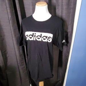 Men's Adidas Black and White Tshirt